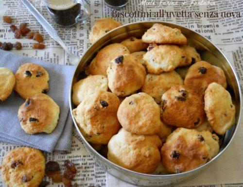 Biscotti con uvetta senza uova