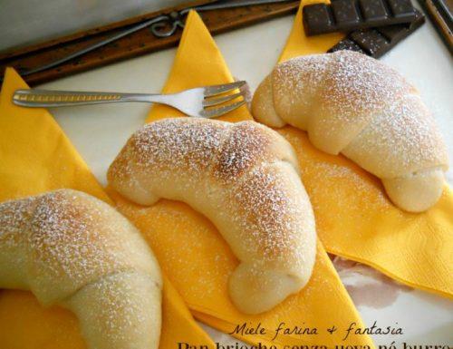Pan brioche senza uova né burro