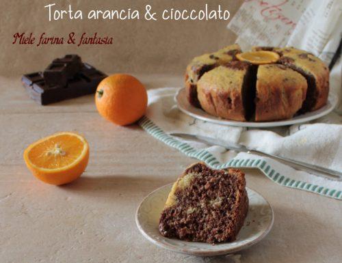 Torta all'arancia e cioccolato senza lattosio