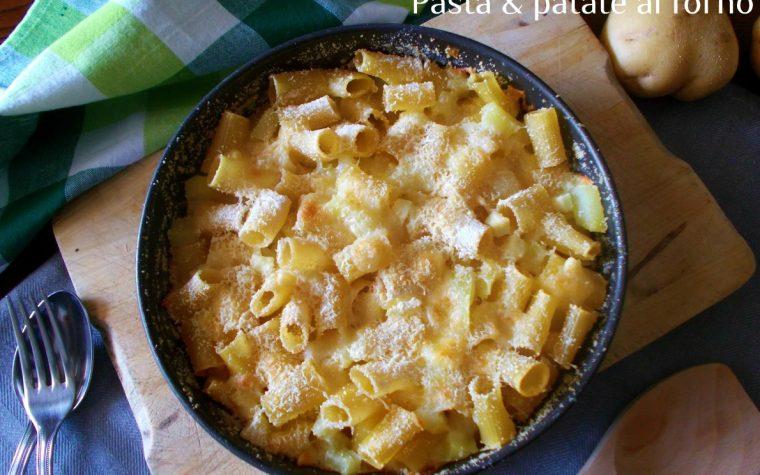 Pasta e patate al forno.