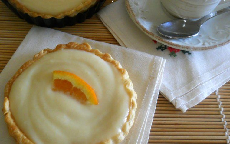 Tartellette con crema pasticcera al profumo d'arancia