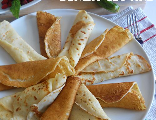 Crepes senza glutine per ricette dolci e salate senza burro