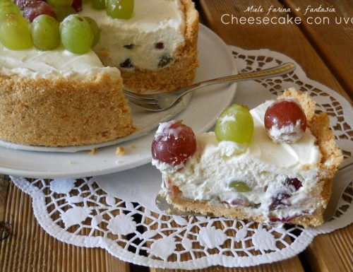 Cheesecake fredda all'uva