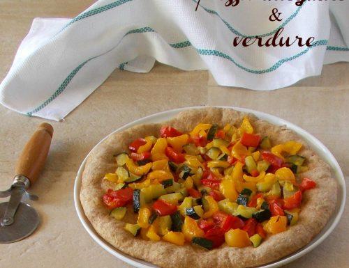 Pizza con farina integrale e verdure
