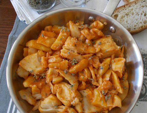 Baccalà e patate in umido