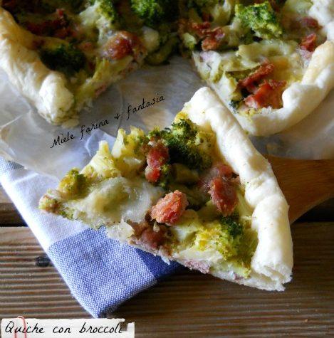 Quiche con broccoli salsiccia e mozzarella
