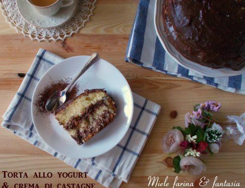 Torta allo yogurt ripiena di crema di castagne
