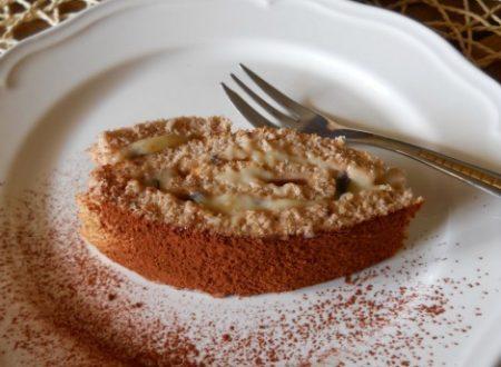 Rotolo al profumo di castagne con crema pasticcera
