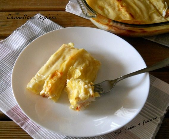 Cannelloni di pasta fresca ripieni