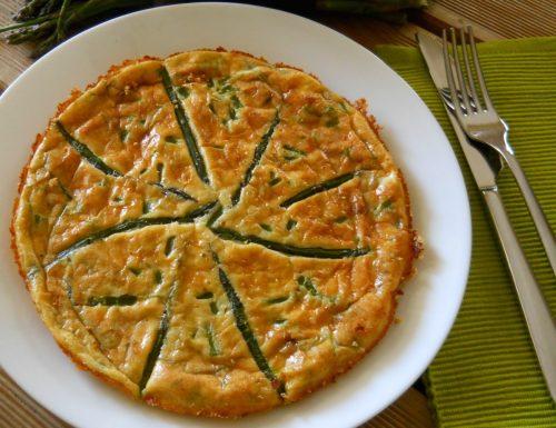 Frittata con asparagi al forno.Ricetta facile