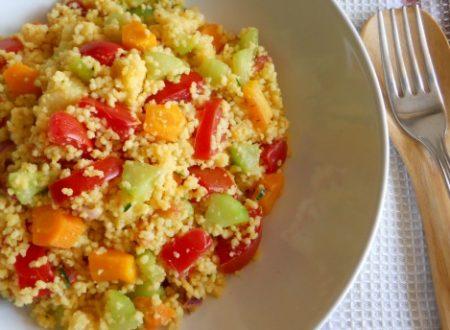 Cous cous con verdure al naturale e spezie