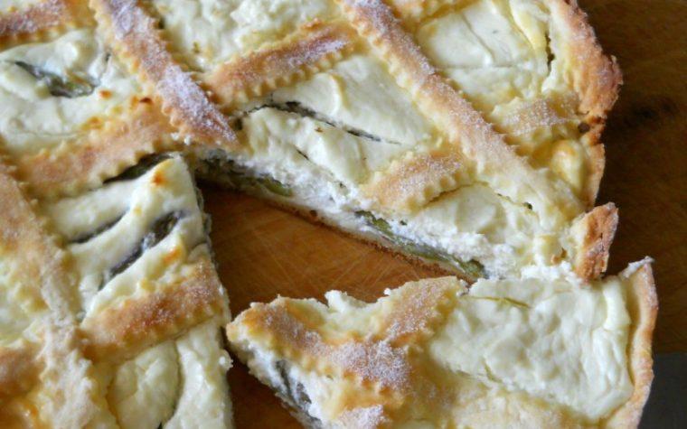 Crostata con asparagi e crema di formaggio