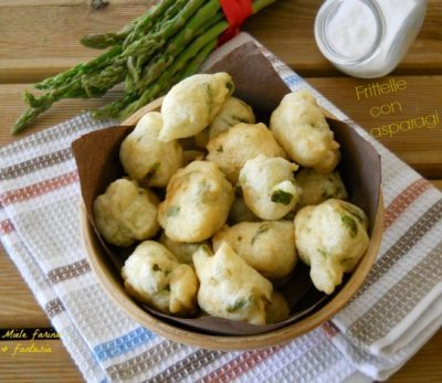 Frittelle con asparagi.Ricetta facile