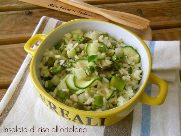 Insalata di riso all'ortolana.Piatto freddo