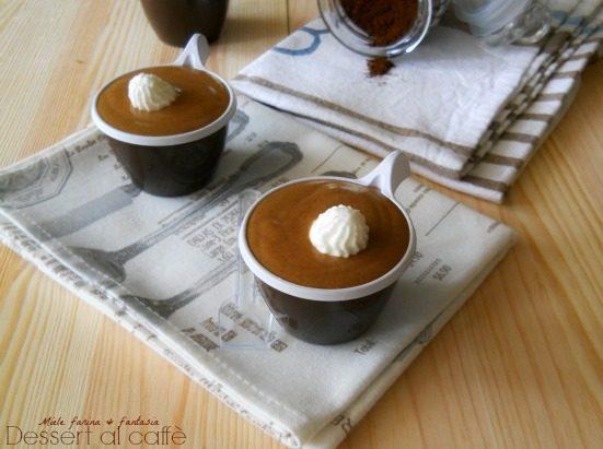 Crema di caffè.Dolce al cucchiaio