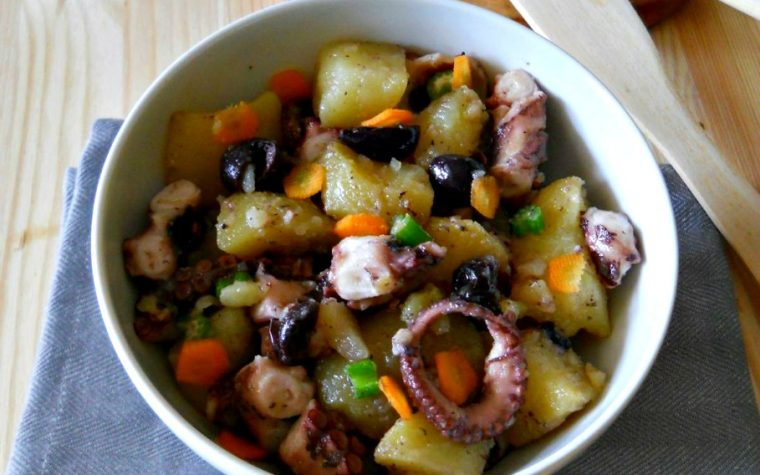 Insalata di mare con polpi e patate