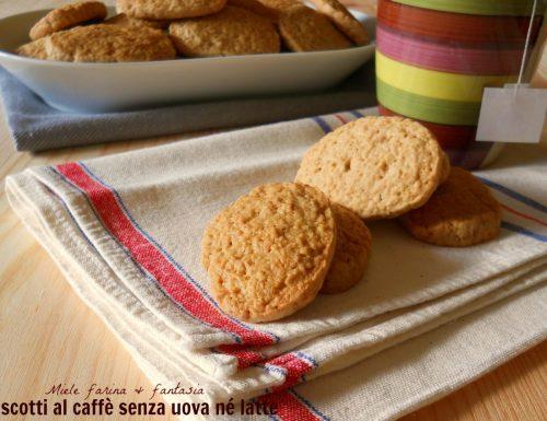 Biscottini al caffè senza uova né latte