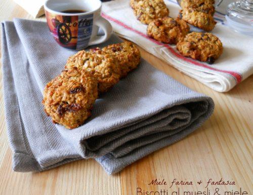 Biscotti morbidi al muesli e miele fatti in casa