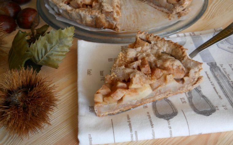 Crostata con farina di castagne e pere