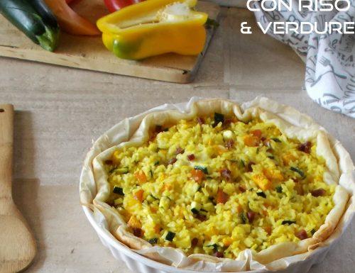 Sfoglia con riso verdure e prosciutto