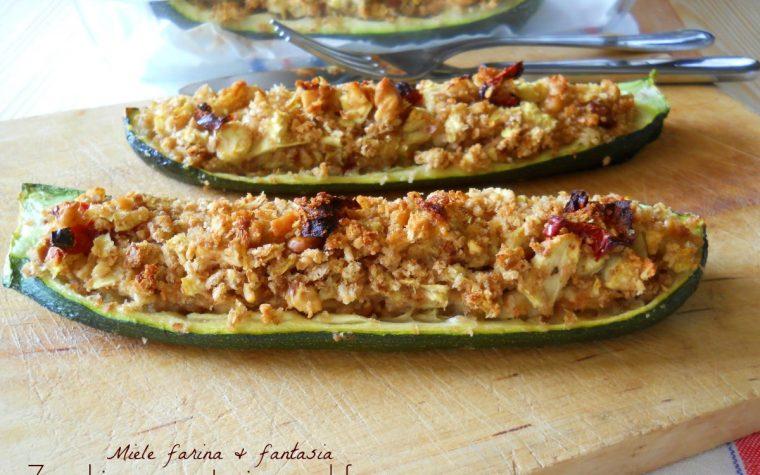 Zucchine farcite al forno.Ricetta vegetariana