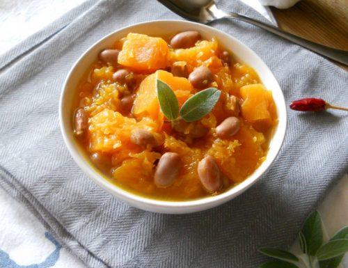 Zuppa di zucca e fagioli