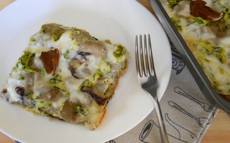 Lasagne di grano arso con zucchine e radicchio