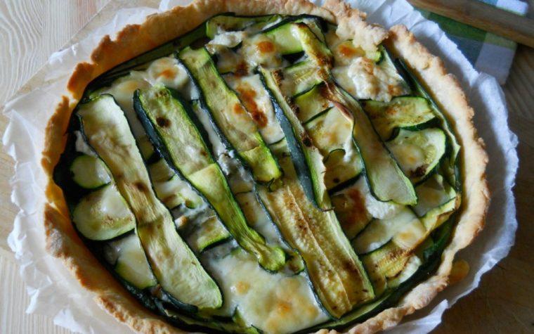Quiche con zucchine gorgonzola e provola