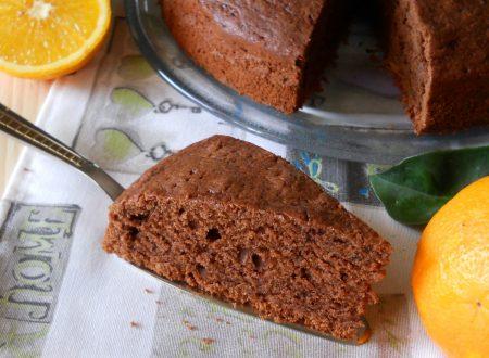 Torta al cacao e succo d'arancia