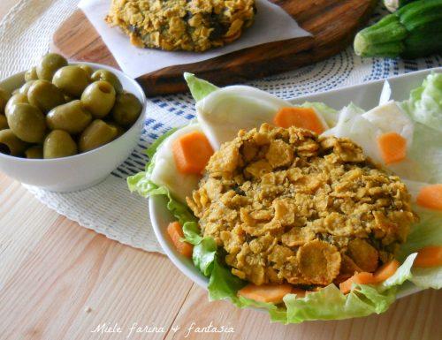 Burger di melanzane e zucchine senza uova