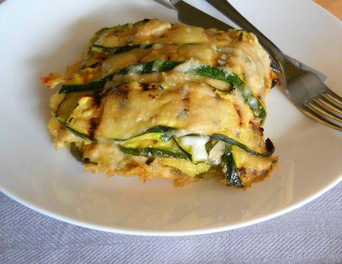 Parmigiana bianca leggera con zucchine grigliate