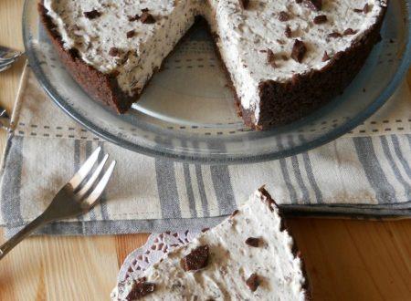 Torta con crema stracciatella senza cottura