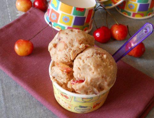 Gelato alle ciliegie con pezzi di frutta