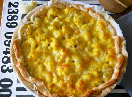 Quiche con cavolfiore e formaggio
