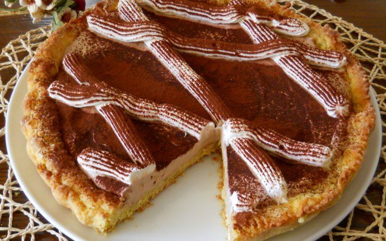 Crostata con crema di ricotta alla nutella
