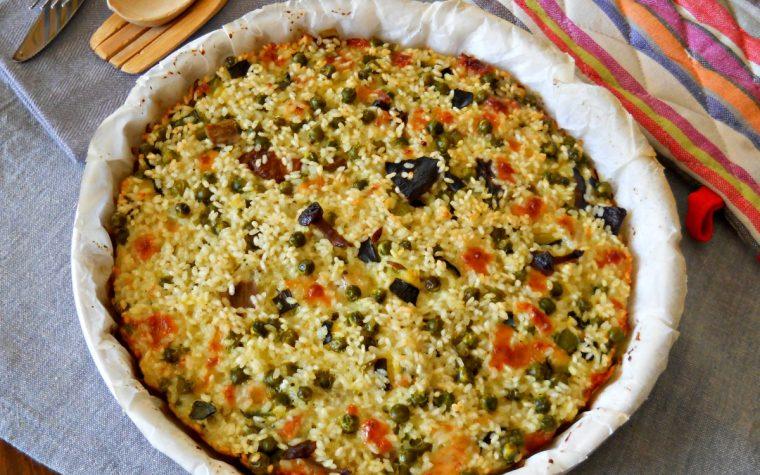 Frittata di riso al forno con verdure