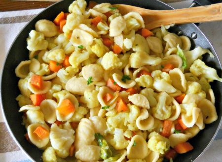 Orecchiette con cavolfiore e carote