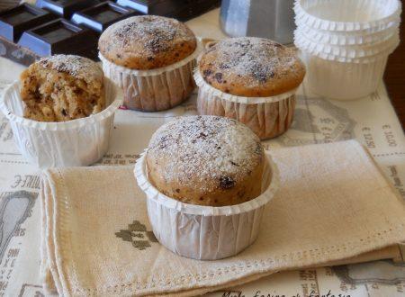 Muffins al caffè e cioccolato