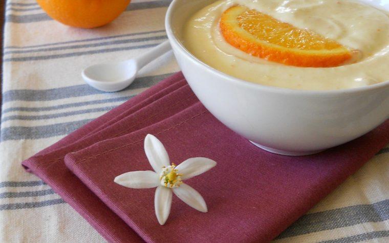 Crema d'arancia senza uova