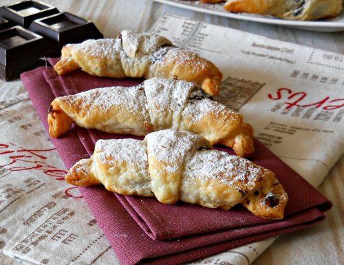 Mini croissants con ricotta e nutella