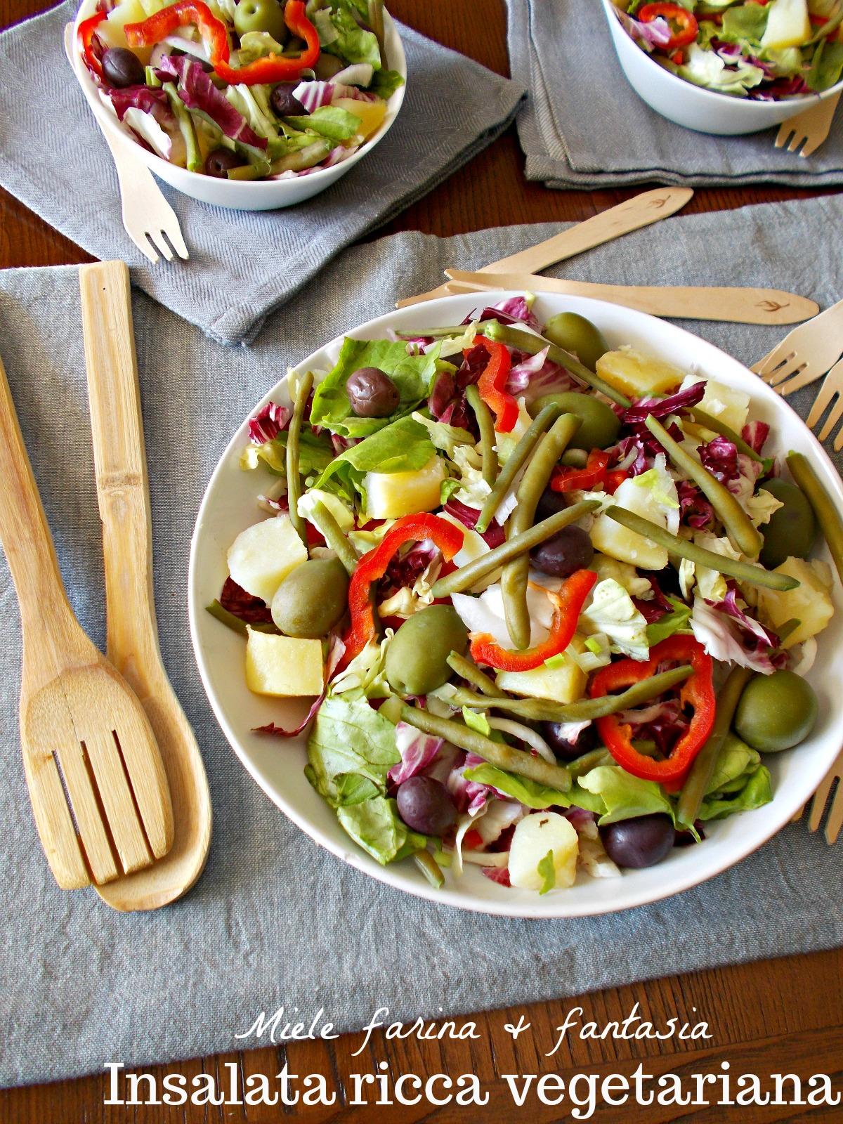 Ricetta Insalata Vegetariana.Insalata Vegetariana Estiva Miele Farina Fantasia