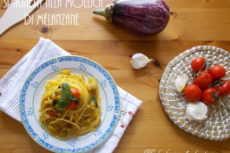 Spaghetti ammollicati con polpa di melanzane