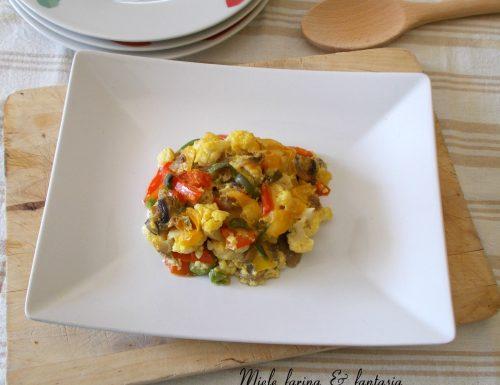 Sformato di verdure  senza uova con salsa al latte
