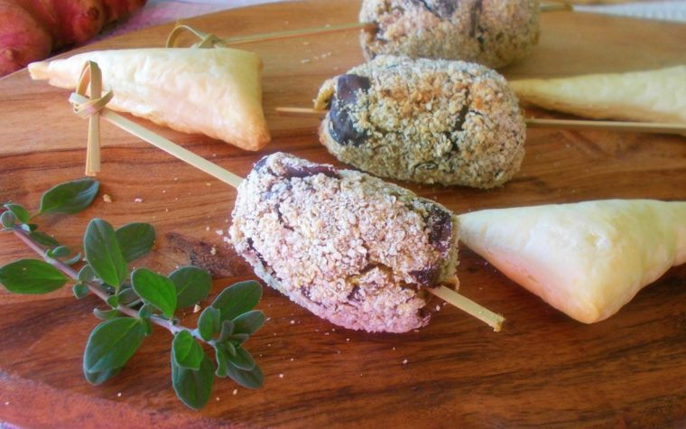 Crocchette speziate di melanzane e topinambur