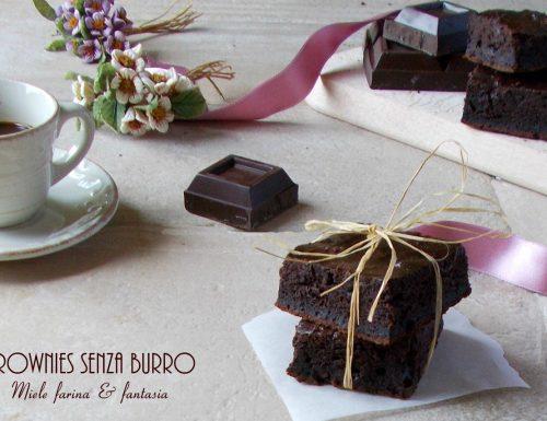 Brownies di cioccolato senza burro