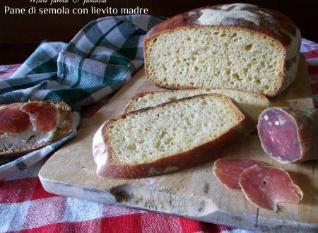 Pane a lievitazione naturale con semola rimacinata