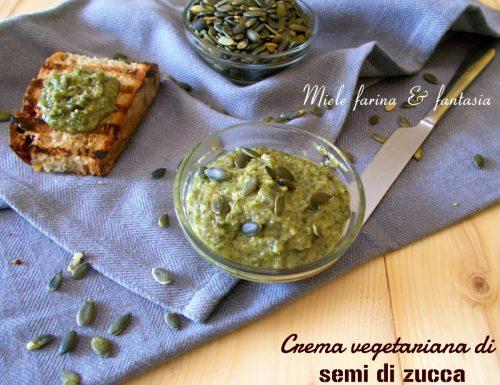 Crema vegetariana di semi di zucca