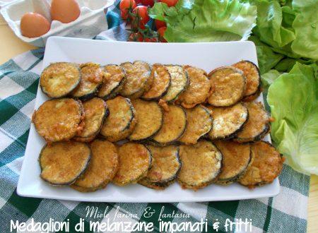 Medaglioni di melanzane fritti