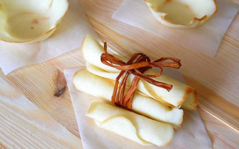 Ricetta base facile per cialde o coupelle e sigari dolci