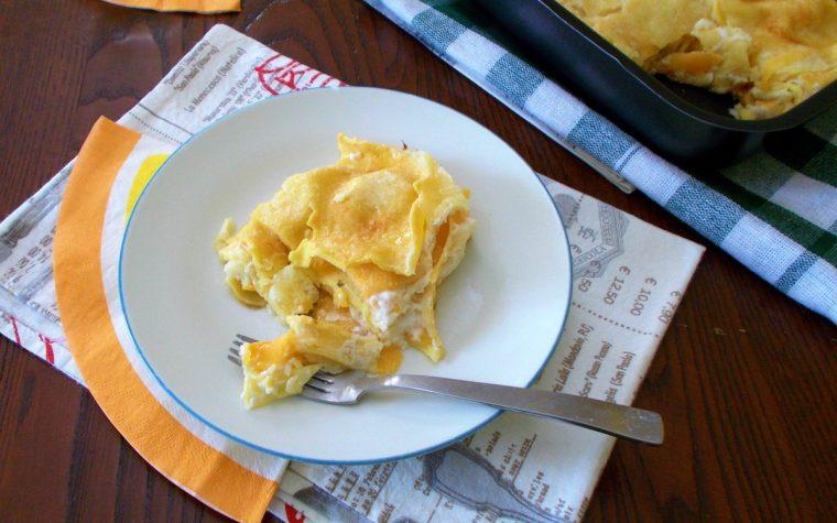 Lasagna di pasta fresca con zucca e provola